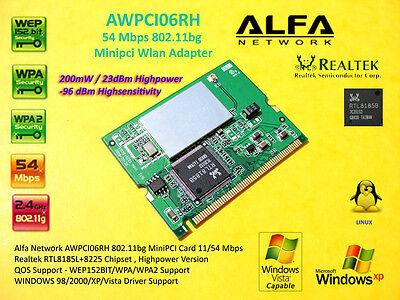 Alfa Network AWPCI06RH MINI PCI CARD 200mW Highpower Linux