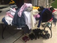 Assorted women's clothing and shoes