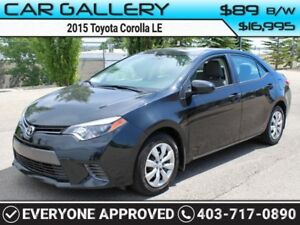 2015 Toyota Corolla LE w/Heated Seats, BlueTooth, USB Connect $8