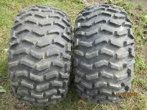 2 USED-ATV GOODYEAR TIRES 25X12.00X9 WITH TUBES