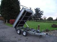IFOR WILLIAMS 8X5 8FT X 5FT TIPPING TIPPER DROPSIDE TRAILER # 1 OWNER # V.CLEAN