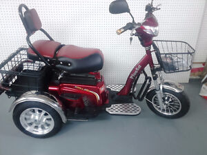 Electric mobility Tricycles  60 volt Bicycles Heated Storage,