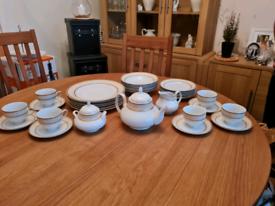 Waterside fine china Dinner set & teaset