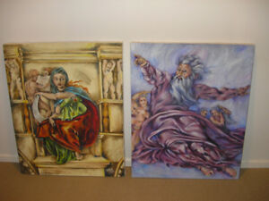 """""""The Delphic Sibyl"""" & """"The Creation of Sun, Moon and Planets"""