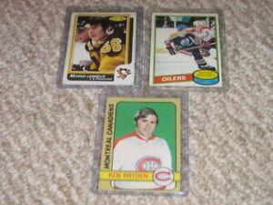 3 --2ND Year Hockey Cards -Dryden/Gretzky/Lemieux