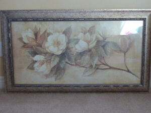 "Fine hand crafted - Lijue Collection Floral  24""x43"" Framed"