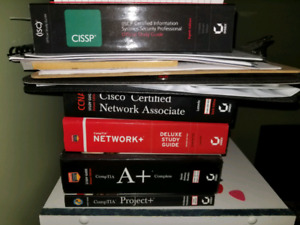 Cissp 8th edition, ccna, network+, A+, Project+