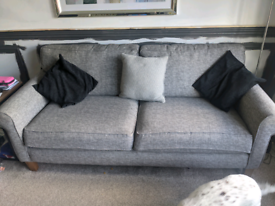 John Lewis sofa and snuggle chair/pullout bed