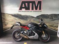 TRIUMPH DAYTONA 675 R 2014 CARBON BLACK, ABS, 1 OWNER, FDSH (6 MONTHS WARRANTY)