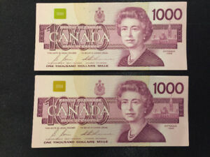 Billet De 1000 $ / $1000 Dollar Bill