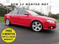 AUDI A4 2.0 TDI S-LINE EDITION ** 170 BHP ** LOW MILES 74000 F.S.H