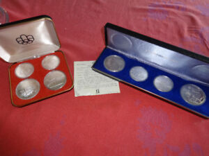 Uncirculated 1976 Montreal Olympic Sterling Silver Coin Sets