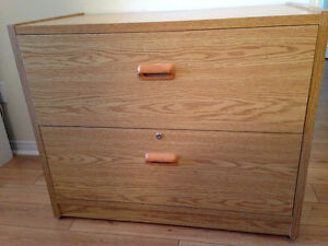 Wooden lateral filing cabinet