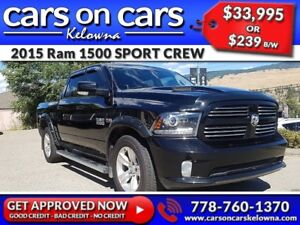 2015 Ram 1500 SPORT CREW HEMI w/Leather, Sunroof, Navi, BackUp C