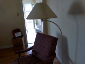 Rocking chair, matching footstool and lamp