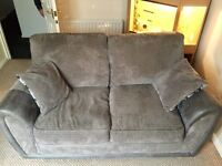 Two seater metal action sofa bed