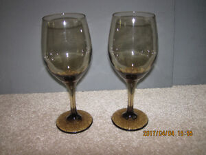 Tinted wine glasses