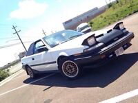 TOYOTA AE92 COUPE! 5 SPEED! RIMS! SUBS! ETC! 4000$
