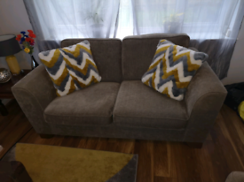 Marks and Spencer mink 2 seater sofa and large cuddle chair