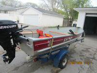 12 FOOT LUND ALUMINUM BOAT(WC-12)$1500. (like new)