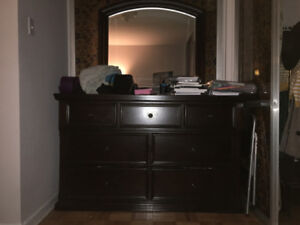 1 yr old Cherrywood side table and dresser set $850