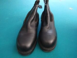 Collins Safety Boots Black Leather