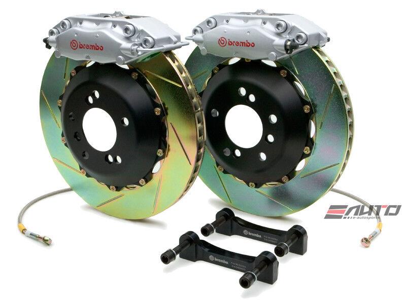 Brembo Rear Gt Brake Bbk 4piston Silver 345x28 Slot Bmw 525 528 530 540 M5 E39