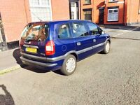 VAUXHALL ZAFIRA 7 SEATER VERY LOW MILEAGE 12 MONTHS MOT