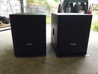 2 x Subzero 500w sub speakers