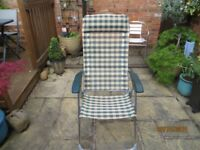 Garden chair recliner with separate footstool/ leg rest