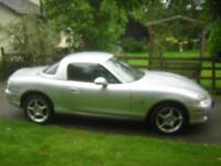 02 MAZDA MX5, 1.8 ARIZONA SPECIAL EDITION, 2 DOOR SPORTS, WITH HARDTOP, SILVER