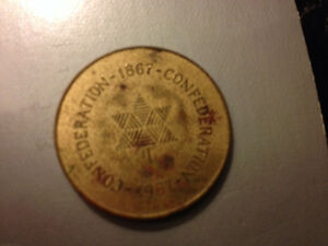 1967 Confederation Brass Medallion