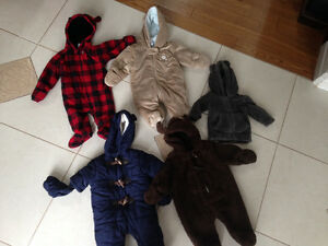 Fleece snowsuits and jacket