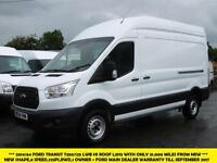 2014 FORD TRANSIT 350/125 L3H3 LWB HI ROOF NEW SHAPE DIESEL VAN WITH ONLY 31.000