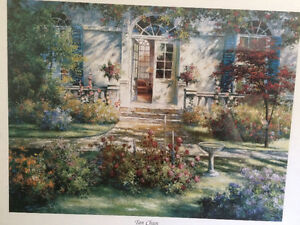 "Collectible Antique ""The Open Door"" Framed Print By Tan Chun London Ontario image 7"