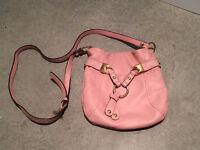 B. Makowsky Leather bucket cross body purse