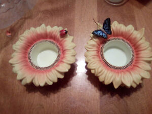 Partylite candle holders and a candle