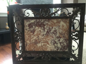 Metal Framed Art/Decor - can be hung vertically or horizontally