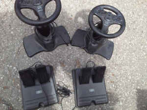Playstation game wheel and pedal