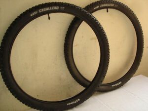 PAIR OF CST CABALLERO TIRES WITH INNER TUBES.