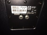 Peavey 450W bass amp and Ampeg bass cab
