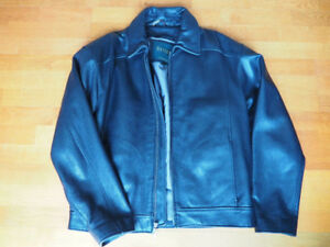 Men's Danier black leather jacket
