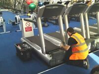 Gym equipment engineer warehouse work