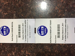 Boler Mountain 6 hr Ski lift tickets and Eqpt rental