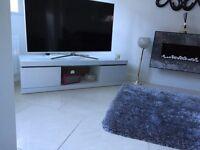White High Gloss TV Stand
