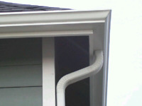 Soffit fascia and 5/6 inch trough installation.