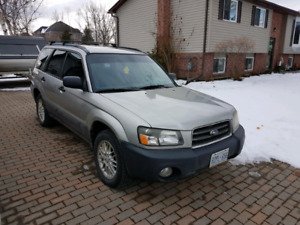 2005 subaru forester x 5 speed manual.
