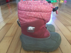 Girls size 8 Sorel Winter boots