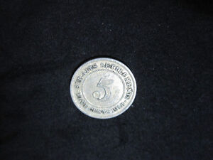 1918 Straits Settlements 5(Five) Cents Silver Coin