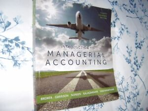 University Textbook - INTRODUCTION TO MANAGERIAL ACCOUNTING